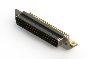 621-M37-360-BN4 - Right Angle D-Sub Connector