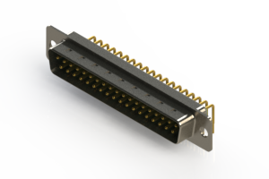 621-M37-360-GN1 - Right Angle D-Sub Connector