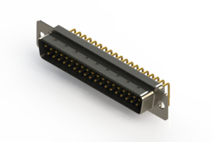 621-M37-360-LN1 - Right Angle D-Sub Connector