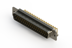 621-M37-360-WT2 - Right Angle D-Sub Connector