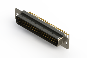 621-M37-660-BN1 - Right Angle D-Sub Connector