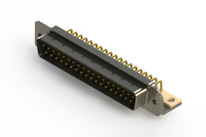 621-M37-660-GN4 - Right Angle D-Sub Connector