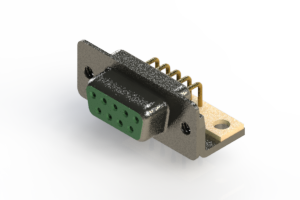 622-M09-360-GN4 - EDAC | Right Angle D-Sub Connector