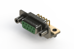 622-M09-360-GN5 - EDAC | Right Angle D-Sub Connector