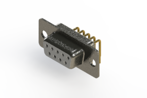 622-M09-360-WT1 - EDAC | Right Angle D-Sub Connector
