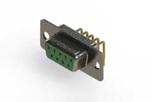 622-M09-660-GN1 - EDAC | Right Angle D-Sub Connector