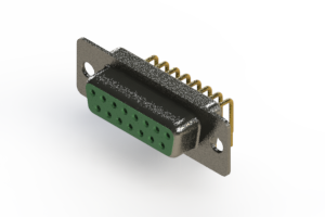 622-M15-360-GN1 - EDAC   Right Angle D-Sub Connector