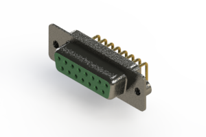 622-M15-360-GN2 - EDAC   Right Angle D-Sub Connector