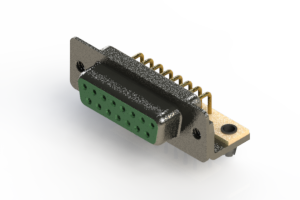 622-M15-360-GT3 - EDAC   Right Angle D-Sub Connector