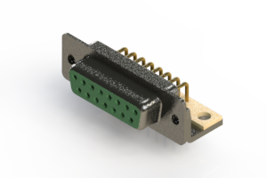 622-M15-360-GT4 - EDAC   Right Angle D-Sub Connector
