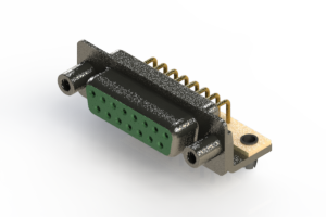 622-M15-360-GT5 - EDAC   Right Angle D-Sub Connector