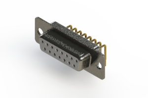 622-M15-360-WT1 - EDAC   Right Angle D-Sub Connector