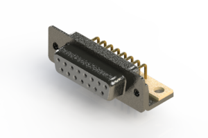 622-M15-360-WT4 - EDAC   Right Angle D-Sub Connector