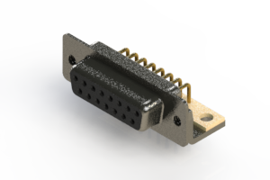 622-M15-660-BN4 - EDAC   Right Angle D-Sub Connector