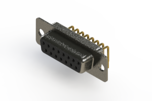 622-M15-660-BT1 - EDAC   Right Angle D-Sub Connector