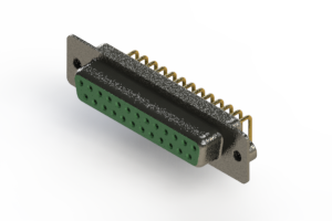 622-M25-260-GN2 - EDAC | Right Angle D-Sub Connector