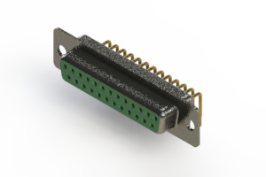 622-M25-360-GN1 - EDAC | Right Angle D-Sub Connector
