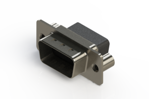 627-009-010-259 - Vertical Metal Body D-Sub Connector
