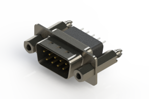 627-009-221-257 - Vertical Metal Body D-Sub Connector