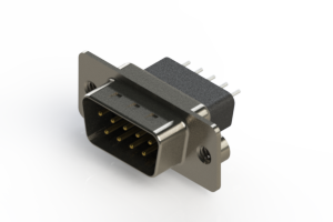 627-009-221-272 - Vertical Metal Body D-Sub Connector