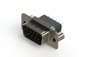 627-009-221-279 - Vertical Metal Body D-Sub Connector