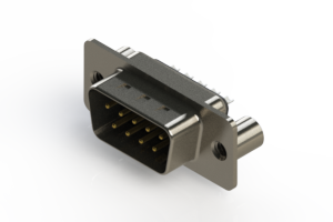 627-009-222-049 - Vertical Metal Body D-Sub Connector