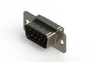 627-009-222-061 - Vertical Metal Body D-Sub Connector