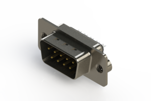 627-009-222-062 - Vertical Metal Body D-Sub Connector