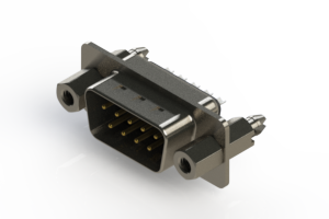 627-009-222-067 - Vertical Metal Body D-Sub Connector