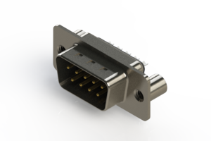 627-009-222-069 - Vertical Metal Body D-Sub Connector