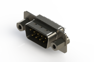627-009-222-243 - Vertical Metal Body D-Sub Connector