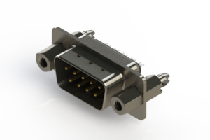 627-009-222-247 - Vertical Metal Body D-Sub Connector