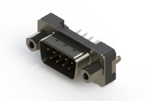 627-009-224-017 - Vertical Plastic Body D-Sub Connector