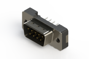 627-009-224-212 - Vertical Plastic Body D-Sub Connector