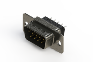 627-009-228-041 - Vertical Metal Body D-Sub Connector