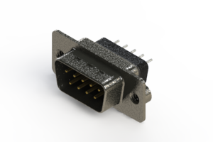 627-009-228-042 - Vertical Metal Body D-Sub Connector