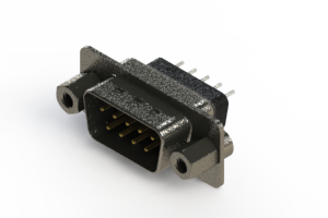 627-009-228-043 - Vertical Metal Body D-Sub Connector