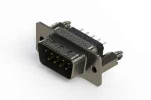627-009-228-046 - Vertical Metal Body D-Sub Connector