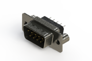 627-009-228-049 - Vertical Metal Body D-Sub Connector