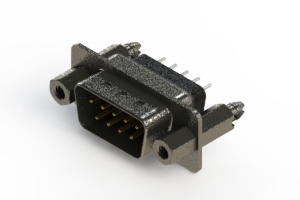 627-009-228-247 - Vertical Metal Body D-Sub Connector
