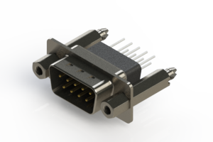 627-009-271-077 - Vertical Metal Body D-Sub Connector