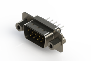 627-009-320-043 - Vertical Metal Body D-Sub Connector