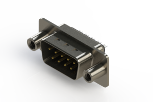 627-009-322-048 - Vertical Metal Body D-Sub Connector