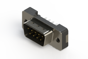 627-009-326-012 - Vertical Plastic Body D-Sub Connector