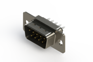 627-009-326-041 - Vertical Metal Body D-Sub Connector