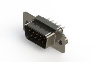 627-009-326-042 - Vertical Metal Body D-Sub Connector