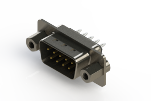627-009-326-043 - Vertical Metal Body D-Sub Connector