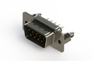 627-009-326-046 - Vertical Metal Body D-Sub Connector