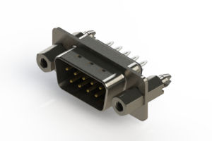 627-009-326-047 - Vertical Metal Body D-Sub Connector