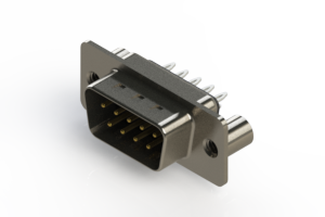 627-009-326-049 - Vertical Metal Body D-Sub Connector